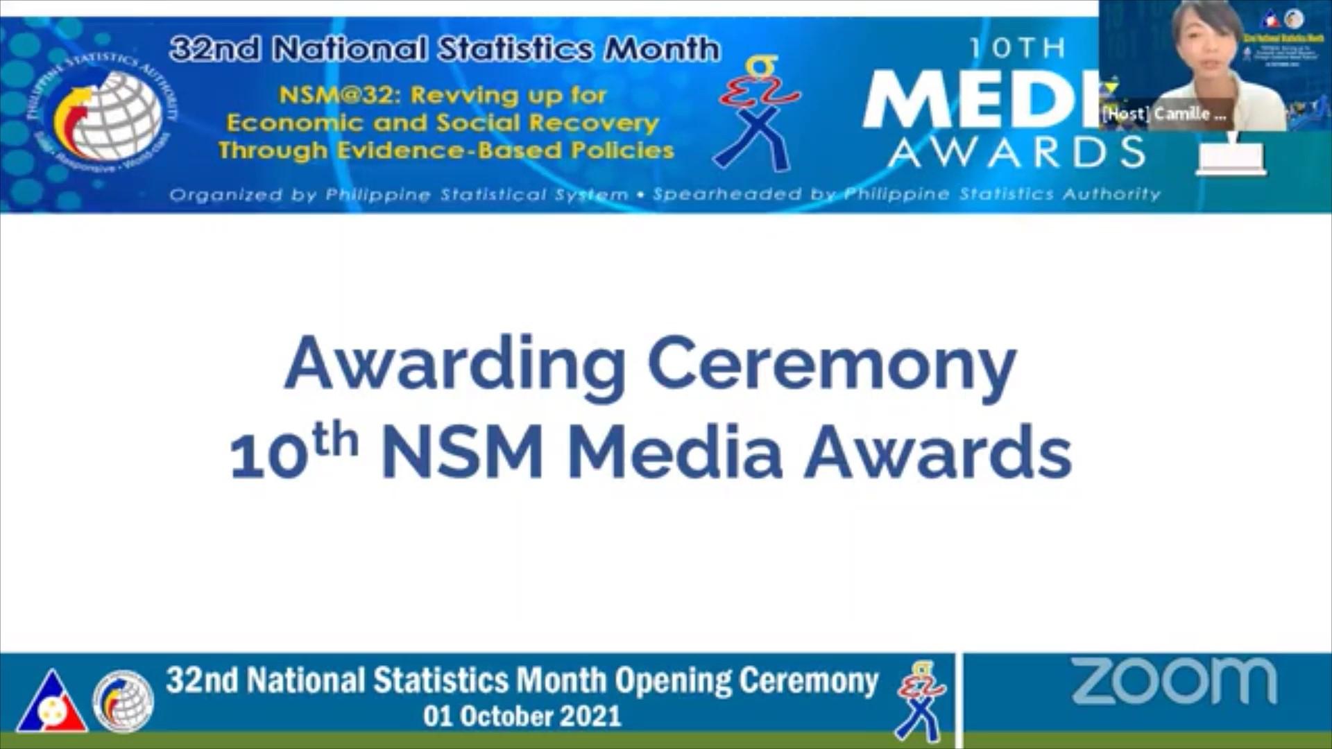 10th NSM Media Awards: Announcement of Winners