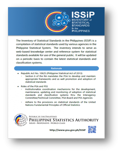Inventory of Statistical Standards in the Philippines (ISSiP)