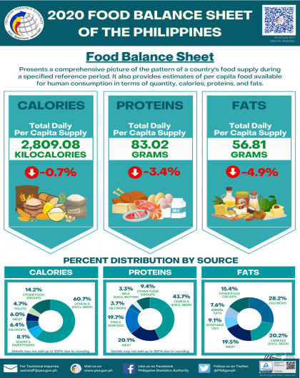 2020 Food Balance Sheets of the Philippines